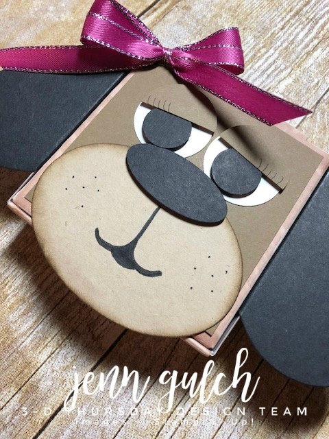 Stampin-Up-3D-Thursday-Puppy-Dog-Pizza-Box-Gift-Holder-Punch-Art-Idea-Sarah-Wills-Sarahsinkspot-Stampinup-CloseUpFace