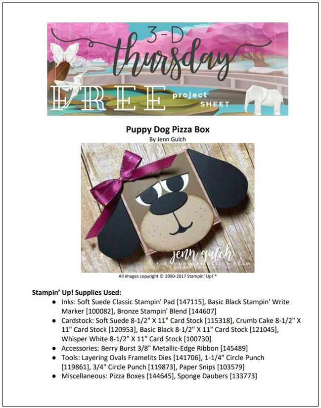 Stampin-Up-3D-Thursday-Puppy-Dog-Pizza-Box-Gift-Holder-Punch-Art-Idea-Sarah-Wills-Sarahsinkspot-Stampinup-Cover