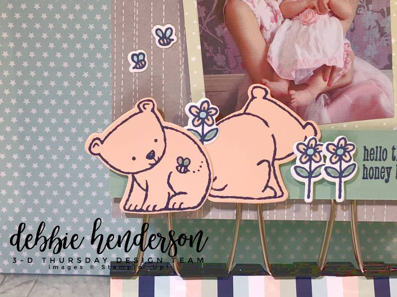 Stampin-Up-3D-Thursday-Binder-Clip-Photo-Holder-Display-A-Little-Wild-Loves-Twinkle-Idea-Sarah-Wills-Sarahsinkspot-Stampinup-Bear