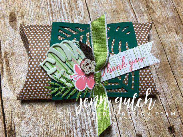 Stampin-Up-3D-Thursday-Tropical-Chic-Escape-Elements-Kraft-Pillow-Box-Boxes-Idea-Sarah-Wills-Sarahsinkspot-Stampinup-1