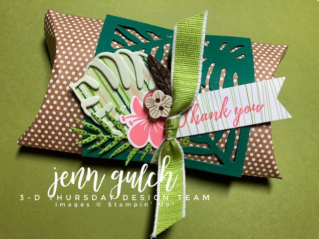 Stampin-Up-3D-Thursday-Tropical-Chic-Escape-Elements-Kraft-Pillow-Box-Boxes-Idea-Sarah-Wills-Sarahsinkspot-Stampinup-3