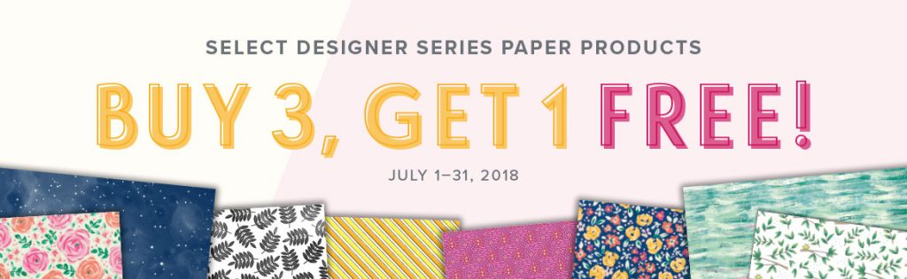 Stampin-Up-July-2018-Buy-3-Get-1-Free-DSP-Designer-Series-Paper-Sale-Special-Promotion-Sarah-Wills-Sarahsinkspot-Stampinup-Banner