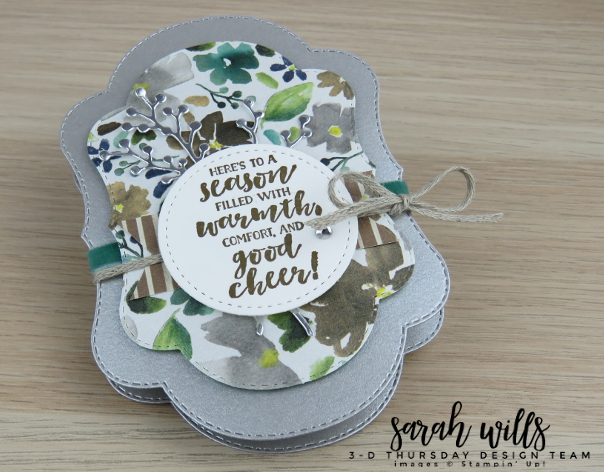 Stampin-Up-2018-Holiday-Catalog-3D-Stitched-Seasons-149013-First-Frost-Bundle-Frosted-Bouquet-Floral-Feathers-Galvanized-Concertina-Card-Album-Project-Sheet-Sarah-Wills-Sarahsinkspot-Stampinup-Main2
