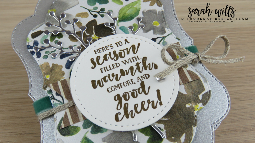Stampin-Up-2018-Holiday-Catalog-3D-Stitched-Seasons-149013-First-Frost-Bundle-Frosted-Bouquet-Floral-Feathers-Galvanized-Concertina-Card-Album-Project-Sheet-Sarah-Wills-Sarahsinkspot-Stampinup-Tag
