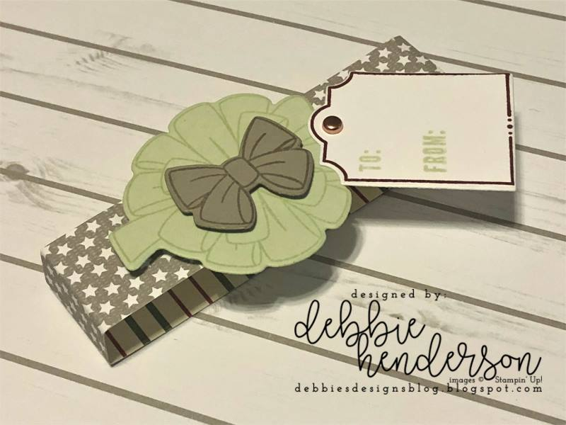 Stampin-Up-3D-Thursday-All-The-Presents-Bring-On-The-Presents-Festive-Farmhouse-DSP-Gift-Package-Gum-Holder-Teacher-Treat-Idea-Sarah-Wills-Sarahsinkspot-Stampinup-Belly-Band