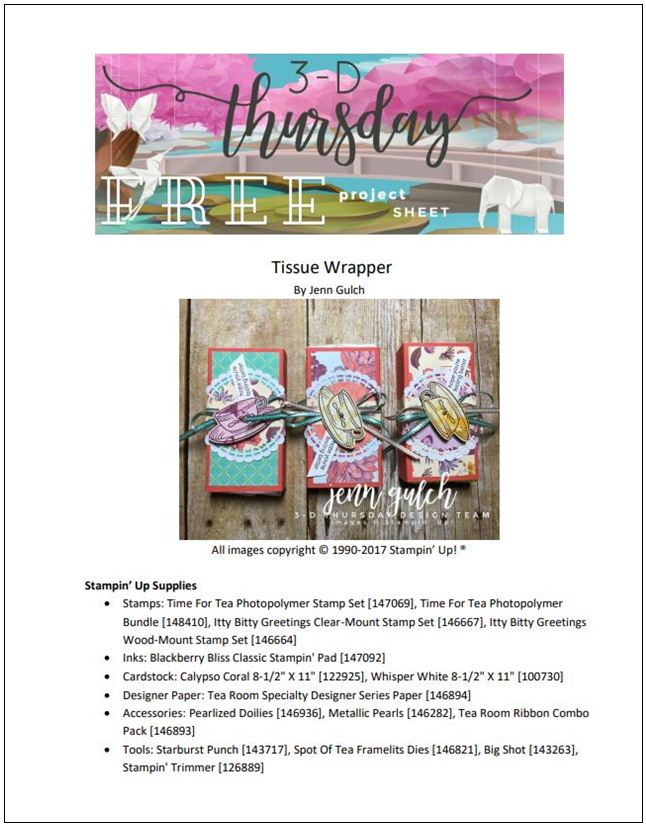 Stampin-Up-3D-Thursday-Tissue-Wrapper-Time-For-Tea-Bundle-148410-Spot-of-Tea-Framelits-Itty-Bitty-Greetings-Sarah-Wills-Sarahsinkspot-Stampinup-Cover