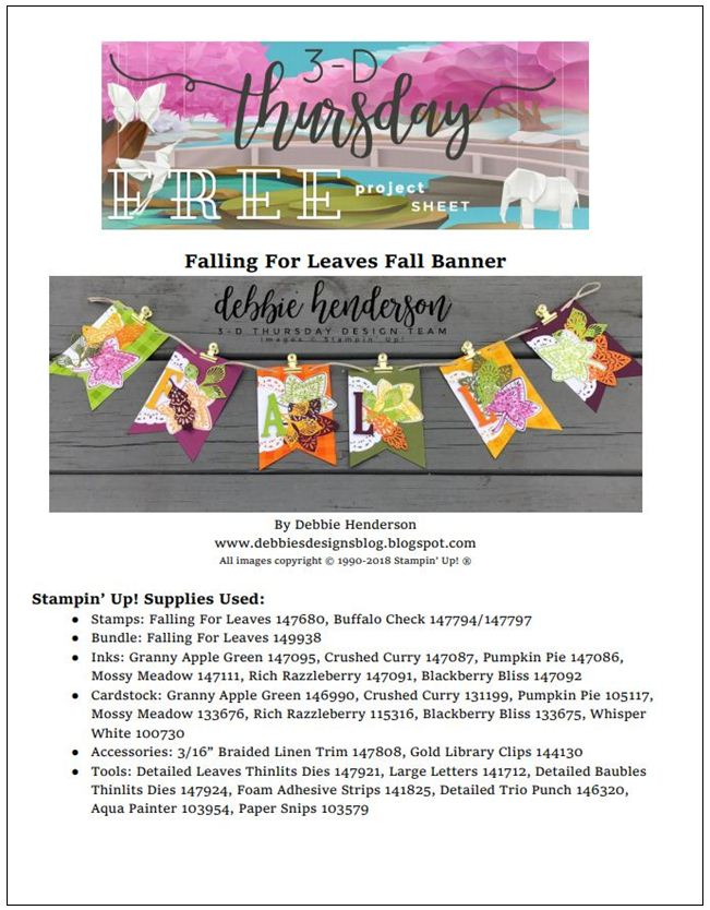 Stampin-Up-3D-Thursday-Banner-Fall-Falling-For-Leaves-Buffalo-Check-Detailed-Baubles-Thinlits-Large-Letters-Idea-Sarah-Wills-Sarahsinkspot-Stampinup-Cover