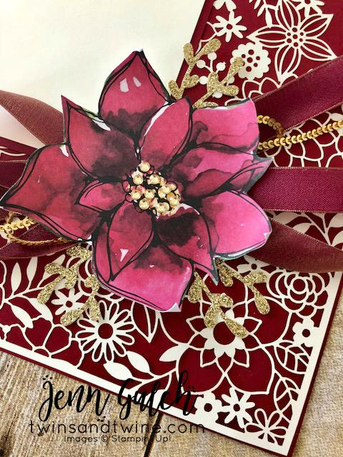 Stampin-Up-3D-Thursday-Home-Decor-Photo-Frame-Scrapbook-Page-Idea-Delightfully-Detailed-Laser-Cut-Timeless-Tidings-Project-Kit-Sarah-Wills-Sarahsinkspot-Stampinup-Ribbons