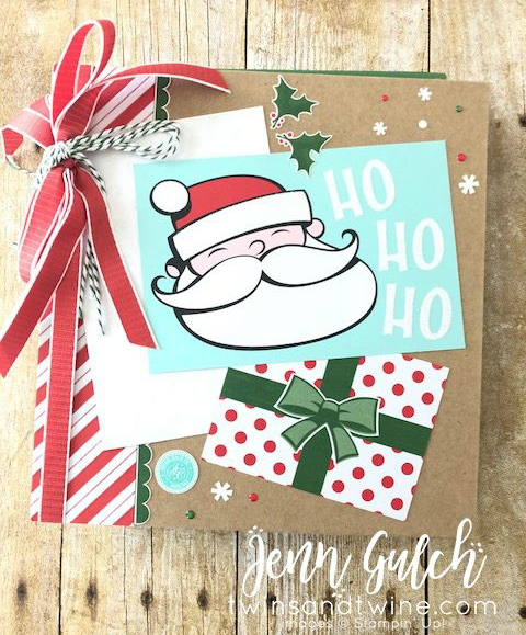Stampin-Up-2018-Holiday-Catalog-Christmas-Holiday-Scrapbook-Album-Recipe-Book-Santas-Workshop-DSP-Memories-More-Card-147905-Santas-Signpost-Sarah-Wills-Sarahsinkspot-Stampinup-Front