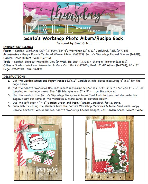 Stampin-Up-2018-Holiday-Catalog-Christmas-Holiday-Scrapbook-Album-Santas-Workshop-DSP-Memories-More-Card-147905-Santas-Signpost-Sarah-Wills-Sarahsinkspot-Stampinup-Cover