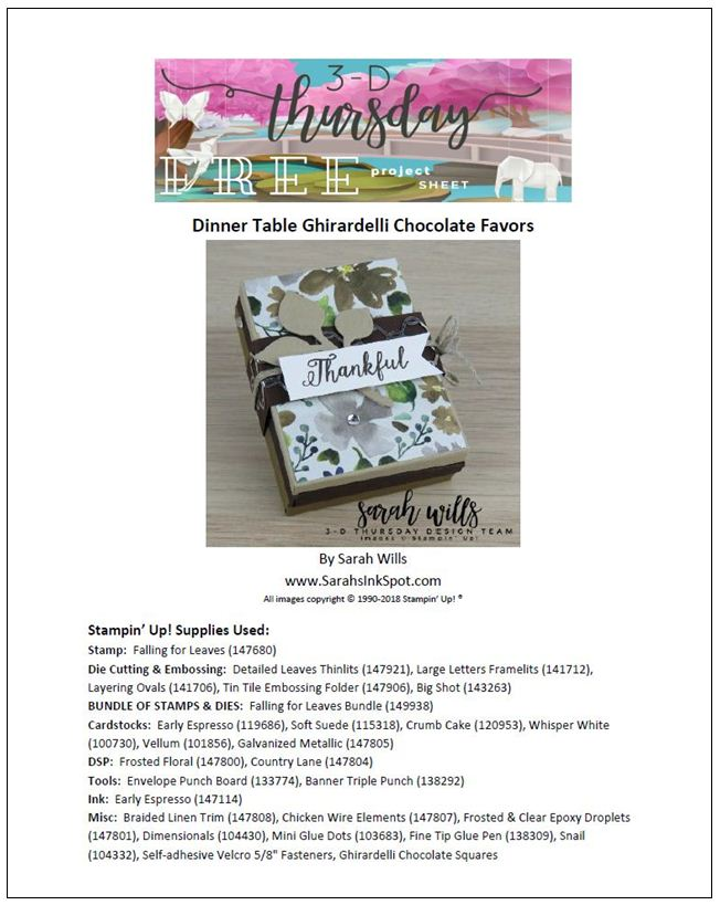 Stampin-Up-3D-Thursday-Envelobox-Ghirardelli-Thanksgiving-Dinner-Table-Favor-Envelope-Punch-Board-Falling-For-Leaves-Bundle-Frosted-Floral-Idea-Sarah-Wills-Sarahsinkspot-Stampinup-Cover