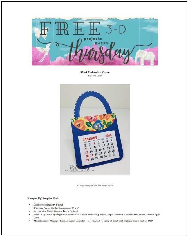 Stampin-Up-3D-Thursday-Mini-Calendar-Purse-Bag-Tufted-Zippies-Large-Calendar-New-Year-Teacher-Gift-Idea-Sarah-Wills-Sarahsinkspot-Stampinup-Cover