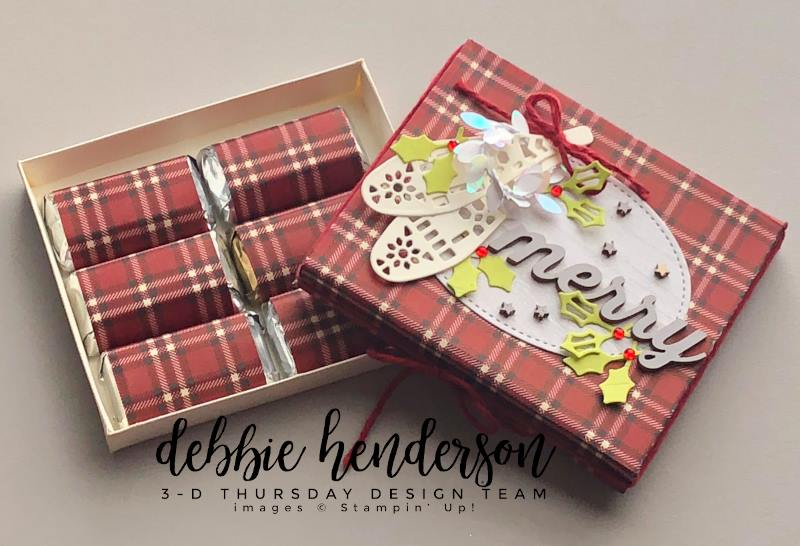 Stampin-Up-3D-Thursday-Hershey-Miniatures-Gift-Box-Free-Tutorial-Christmas-Holidays-Farmhouse-Framelits-Stitched-Shapes-Iridescent-Boxwood-Wreath-Idea-Sarah-Wills-Sarahsinkspot-Stampinup-Open