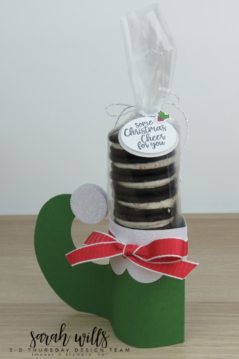 Stampin-Up-3D-Thursday-Elf-Shoe-Treat-Holder-Cookies-Oreo-Christmas-Holiday-Santa-Tutorial-Idea-Sarah-Wills-Sarahsinkspot-Stampinup-3