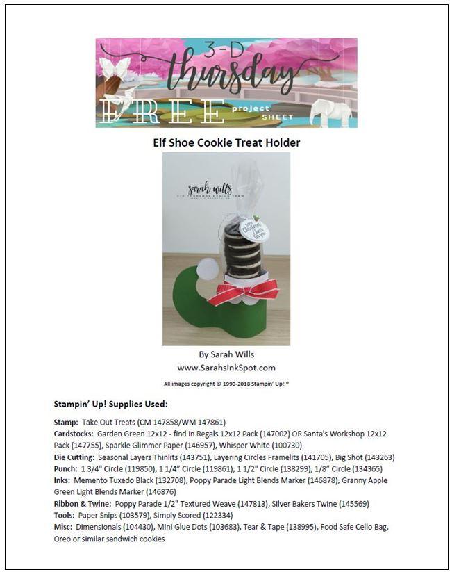 Stampin-Up-3D-Thursday-Elf-Shoe-Treat-Holder-Cookies-Oreo-Christmas-Holiday-Santa-Tutorial-Idea-Sarah-Wills-Sarahsinkspot-Stampinup-Cover