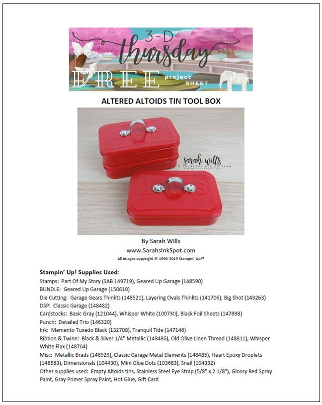 Stampin-Up-Occasions-Saleabration-3D-Thursday-Blog-Hop-Altered-Altoids-Tin-Tool-Box-Classic-Geared-Up-Garage-Bundle-Gift-Card-Holder-Idea-Sarah-Wills-Sarahsinkspot-Stampinup-Cover