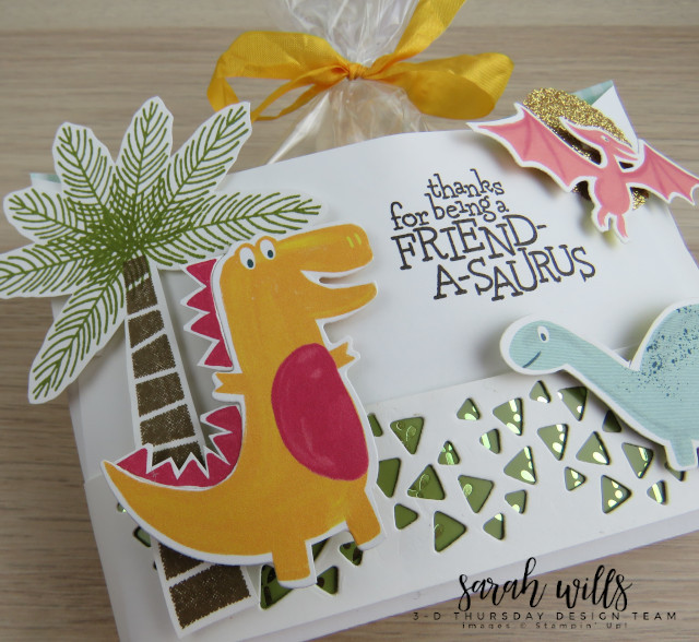 Stampin-Up-3D-Thursday-Envelope-Treat-Bag-Holder-Cookie-Dino-Days-DinoRoar-Kids-Favor-Idea-Sarah-Wills-Sarahsinkspot-Stampinup-Dinosaur