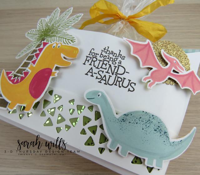 Stampin-Up-3D-Thursday-Envelope-Treat-Bag-Holder-Cookie-Dino-Days-DinoRoar-Kids-Favor-Idea-Sarah-Wills-Sarahsinkspot-Stampinup-GlitteredGreenStrip