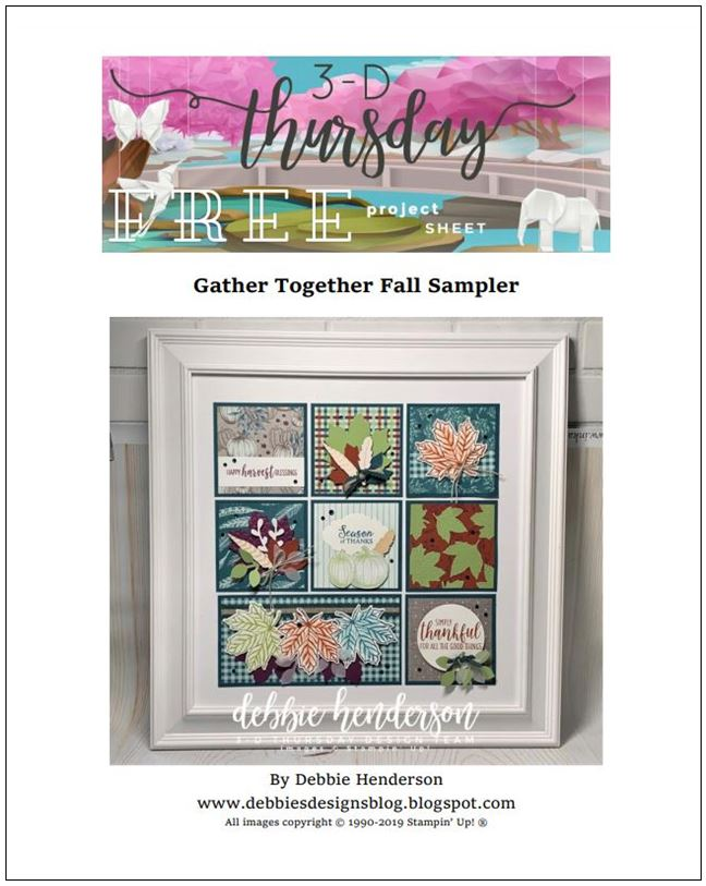 Stampin-Up-3D-Thursday-Gather-Together-Fall-Autumn-Sampler-Home-Decor-Country-Art-Idea-Sarah-Wills-Sarahsinkspot-Stampinup-Cover